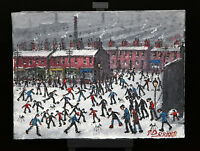 NORTHERN ARTIST JAMES DOWNIE ORIGINAL OIL PAINTING 'HULME MANCHESTER'