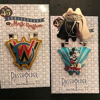 Disney Magic Kingdom 45th Anniversary Passholder Exclusive Pin- Mickey Mouse WDW