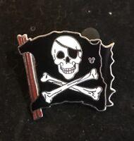 Disney Pin Cast Lanyard Pirates of the Caribbean Skull & Crossbones Flag [43204]