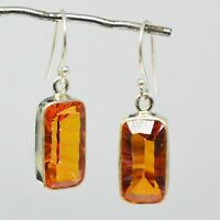 925 Sterling Silver Mystic Quartz Gemstone Earrings 4.52 gms Jewelry CCI