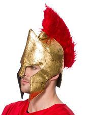 Adult Warrior Helmet Hat Fancy Dress Accessory Roman Gladiator Centurion Legion