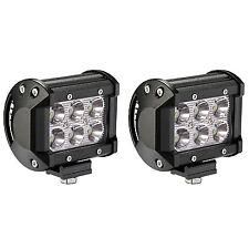 Set of 2 18W Waterproof Cree LED Fog Spot Light Offroad Vehicle ATV UTV Black
