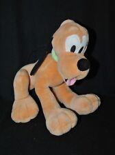 Doudou Peluche chien Pluto DISNEY Mickey Kids collier vert 30 cm assis TTBE