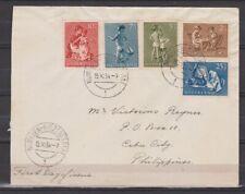 Netherlands Nederland POSTSTUK 649 - 653 TOP CANCEL NIJMEGEN BIEZENSTRAAT 1954