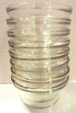 8 VINTAGE CLEAR GLASS CUSTARD CUPS DESSERT BOWLS 6 OZ #1034