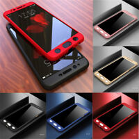 For Samsung Galaxy J2 J3 J5 J7 Prime 360° Full Cover Hybrid Case+Tempered Glass