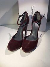 Calvin Klein Laine Shimmer Burgundy Women's HEELS Size 9 US Retail