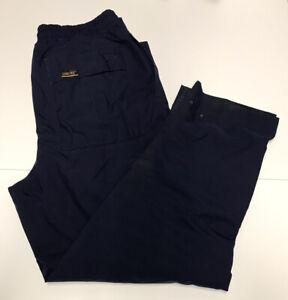 Zero Restriction Gore-Tex Navy Blue Elastic Golf Rain Wind Pants - Large L READ