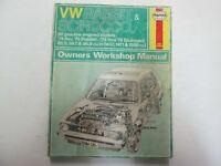1974-1979  Haynes VW Rabbit Scirocco Gasoline Engine Owners Workshop Manual OEM
