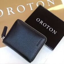 RRP$165 New Oroton Men Wallet Caprice Zip Around Genuine Leather Black Box SALE