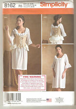 Simplicity Sewing Pattern 8162 Miss 18th Century Undergarments Costumes Sz 14-22