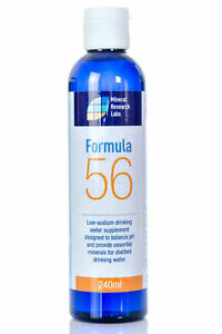Sugar Free Distilled Mineral Water Health Supplement Low Sodium Formula 56 Vegan
