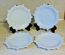 4 TEMP-TATIONS DESSERT PLATES BY TARA WHITE SNOWFLAKE POINSETTIA CHRISTMAS PLATE
