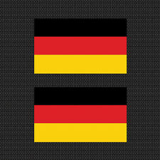 "2x German Flag 4"" Sticker Vinyl Die Cut Decals graphic Germany Free Shipping"