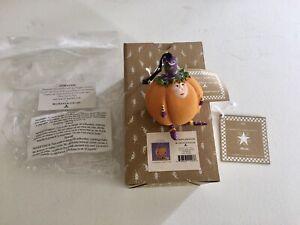 Mackenzie Child Patience Brewster Pumpkin Mini Ornament  Halloween  NEW in BOX