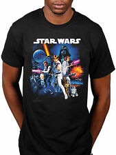 Official Star Wars Space Montage 2 T-Shirt New Hope Galactic Empire Yoda Lucas