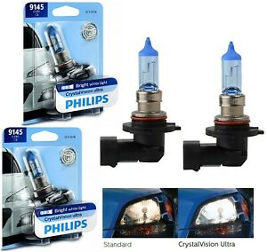 Philips Crystal Vision Ultra H10 9145 45W Two Bulbs Fog Light Upgrade Legal DOT