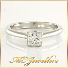 18KT Ladies White Gold 0.56ct Diamond Princess Cut Engagement Ring VAL $8700