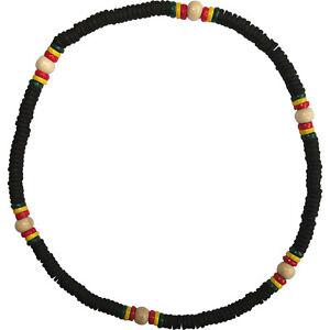 Wood Bead Necklace Chain Mens Womens Girls Boys Rasta Reggae Wooden Jewellery