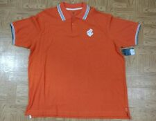NWT Men's Rocawear Classic Big & Tall 3XL Orange Polo shirt Collared Striped