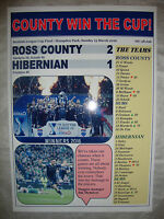 Ross County 2 Hibernian 1 - 2016 Scottish League Cup final - souvenir print
