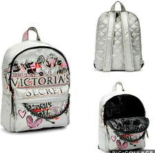 Victoria's Secret GRAFFITI CITY VS Backpack LARGE Carry Bag Gray Pink Black NWT