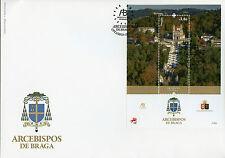 Portugal 2017 FDC Archbishops of Braga 1v M/S Cover Architecture Tourism Stamps