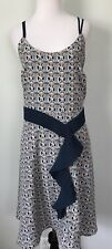 Liberty of London for Target Sz US 14 UK16 Blue Floral Sleeveless Dress Ruffle
