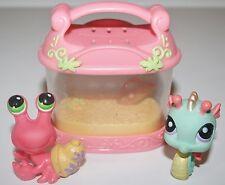 Littlest Pet Shop  #62 Hermit Crab Green Eyes LPS Sea Horse 348 Accessory Case