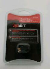 Gigaware Female to Male Mini USB to Micro USB Adapter.