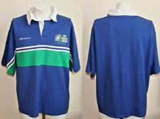 Genuine Reebok Rogby 2003 Cup Polo Shirt Size S Striped Fashion Designer Mens