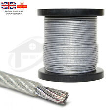 10 Meters 4mm 5mm Nylon Coated Steel Wire Rope 7x19 Gym Machine Lifting Cable