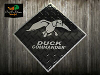 """DUCK COMMANDER DYNASTY METAL LOGO SIGN BLACK AND SILVER 12"""" X 12"""""""