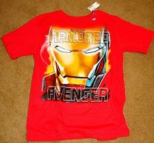 CHILDRENS PLACE T-SHIRT T XL RED MARVEL IRON MAN AVENGERS TEE MOVIE 3 BRAND NEW