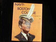 October 5, 1974 Navy vs. Boston College Football Program EX+