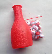 NEW BILLIARD PEA SHAKER BOTLE AND PEAS ( TALLY BALLS)