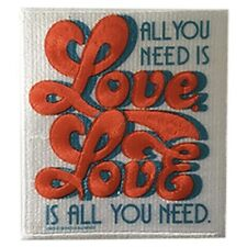 The Beatles Embroidered Patch B052P Lennon and McCartney All You Need Is Love