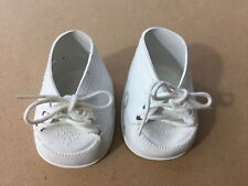 Tender Heart Treasures Vintage White Shoes Oxfords Doll Bear 25933