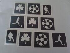 30 x Irish football stencils for glitter tattoos  Euros 2016  Ireland  shamrock