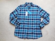 Men's SONOMA Flexwear Modern-Fit Plaid Stretch Button-Down Shirt Size XL Teal
