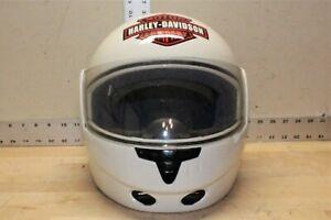 Harley-Davidson Modular Flip Up Motorcycle Helmet White Clear Visor Large