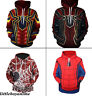 Fashion 3D print Sweater Avengers 3 Spider-Man Hoodie Men's Casual Pullover coat