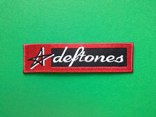 HEAVY METAL PUNK ROCK MUSIC SEW ON / IRON ON PATCH:- DEFTONES (a)
