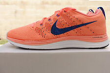 NIKE WOMENS FLYKNIT LUNAR1+ SHOES SIZE 10 atomic pink royal 554888 641 MSRP $160