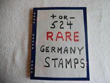 524 Rare Vintage Antique Germany Stamp Collection Album 1888 & Up StampBook2B