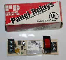 SPST Panel Relay 15A 120/240 VAC RIB/Functional Devices MU1S