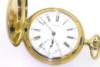 Paul Moser antique 14K yellow gold elegant high fashion mechanical pocket watch