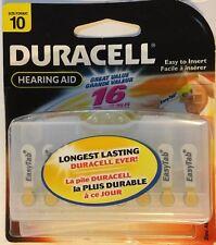 NEW DURACELL DA10B16  Button Cell Hearing Aid Battery, #10, 16/Pk  Exp 3/2011