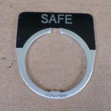 """Cutler-Hammer 10250TM85 """"SAFE"""" Legend Plate"""