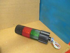 FEDERAL SIGNAL LITESTAK LSB-120 SER A2 LAMP COLOR GREEN & RED 120V VOLTS USED